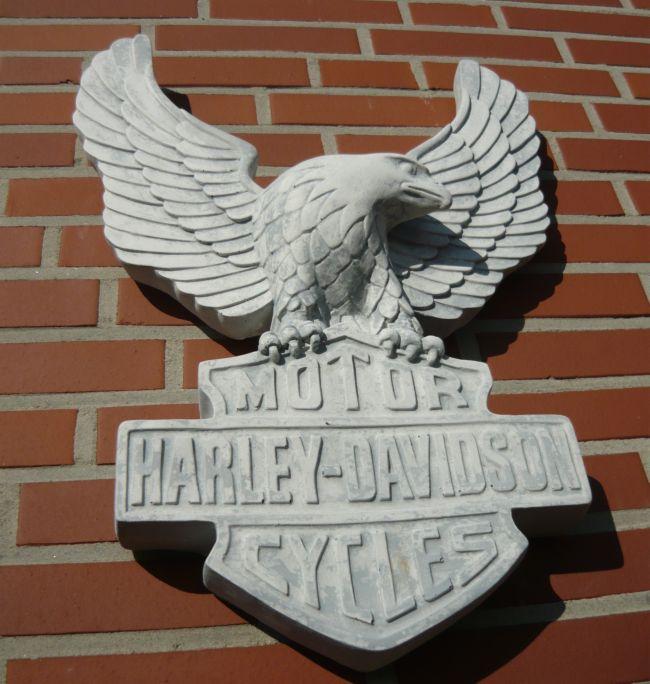 Harley davidson adler wanddeko beton wetterfest ebay for Wanddeko aussenbereich